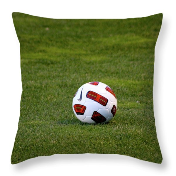 Futbol Throw Pillow by Laddie Halupa