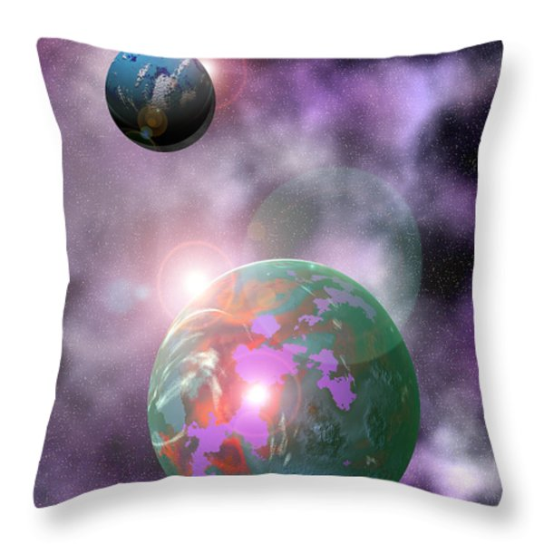 Galaxy 1 Throw Pillow by John Keaton