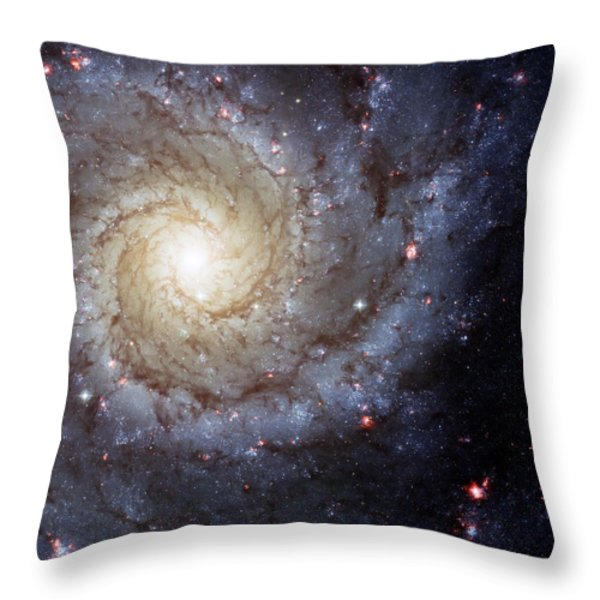 Galaxy Swirl Throw Pillow by The  Vault - Jennifer Rondinelli Reilly