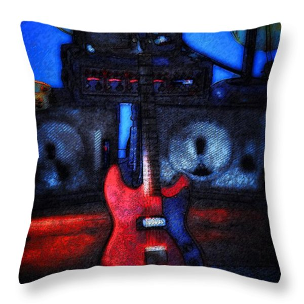 Garage Rock Throw Pillow by Bill Cannon