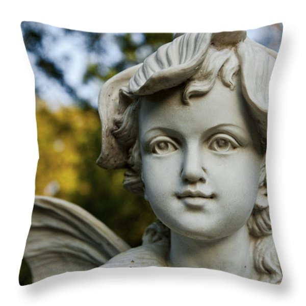 Garden Fairy Throw Pillow by Christopher Holmes