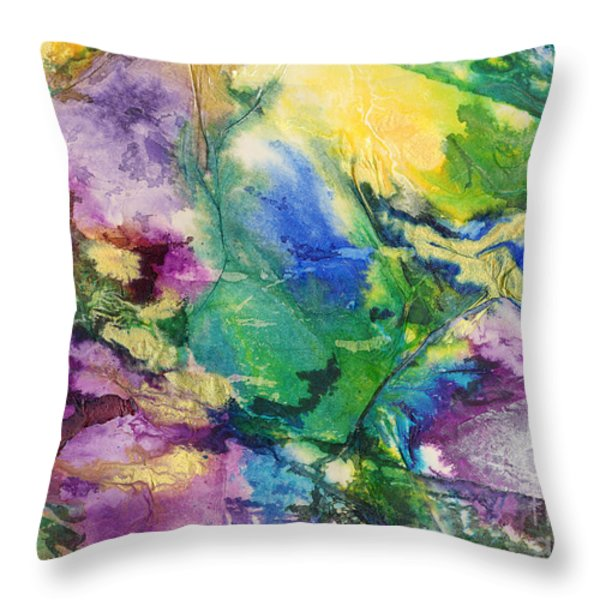 Garden Hues A Collage In The Colors Of A Country Garden Throw Pillow by Phil Albone