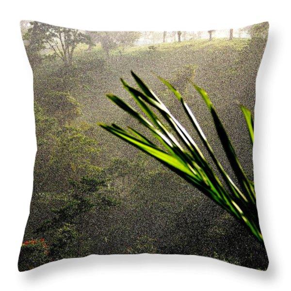 Garden of Eden Rain Throw Pillow by KAREN WILES