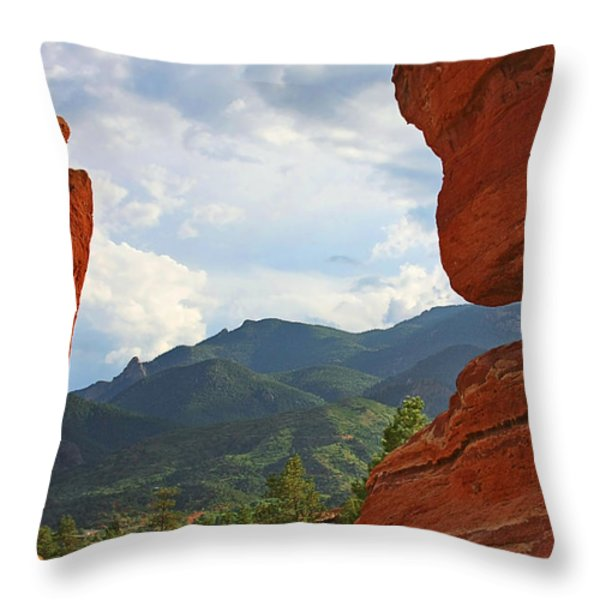 Garden Of The Gods - Colorado Springs Throw Pillow by Christine Till