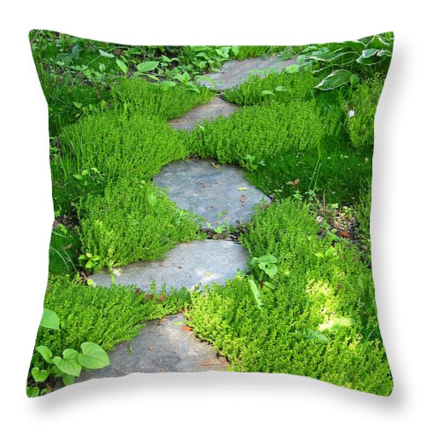 Garden Path Throw Pillow by Idaho Scenic Images Linda Lantzy
