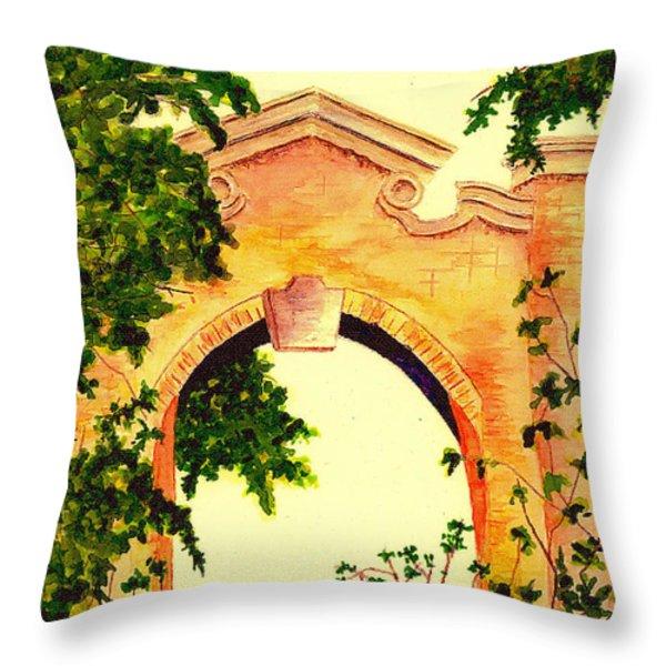 Garden Scene Throw Pillow by Michael Vigliotti