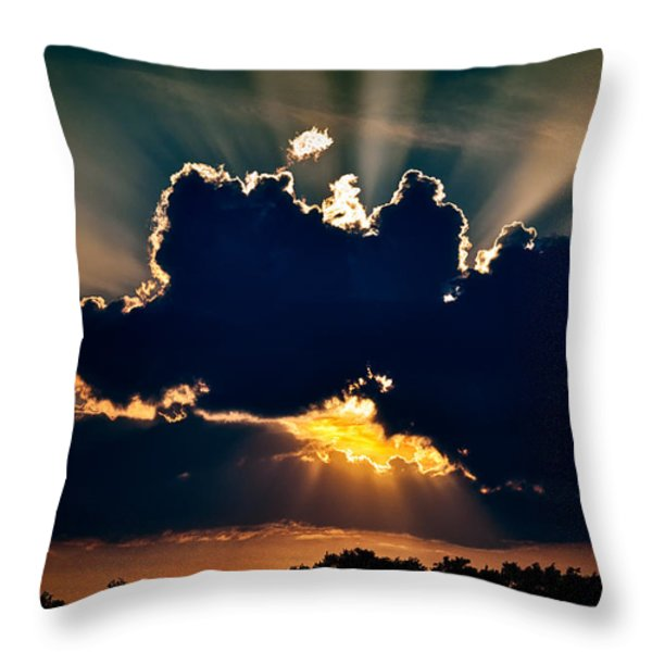 Gate To The Golden City Throw Pillow by Christopher Holmes