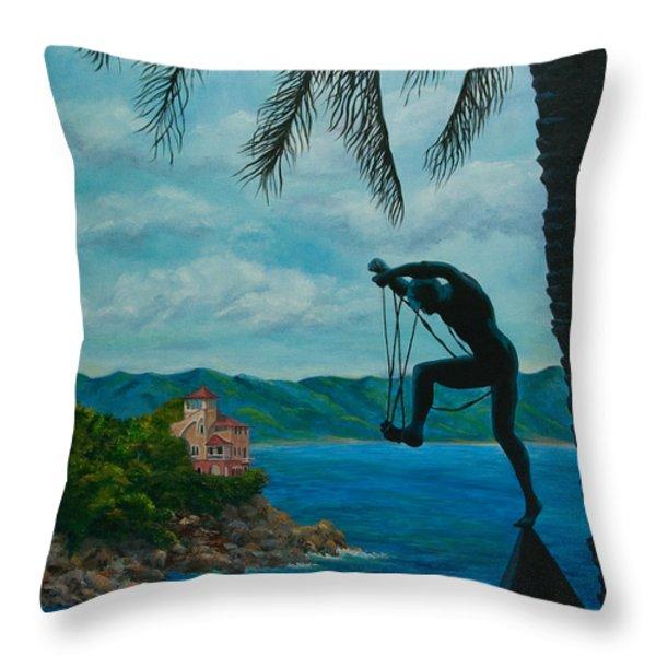 Gateway to Portofino Throw Pillow by Charlotte Blanchard