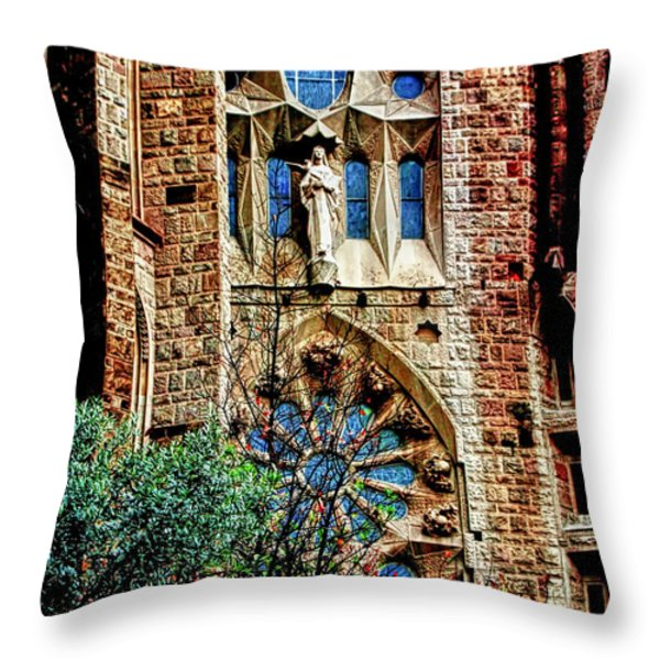 Gaudi Barcelona Throw Pillow by Tom Prendergast