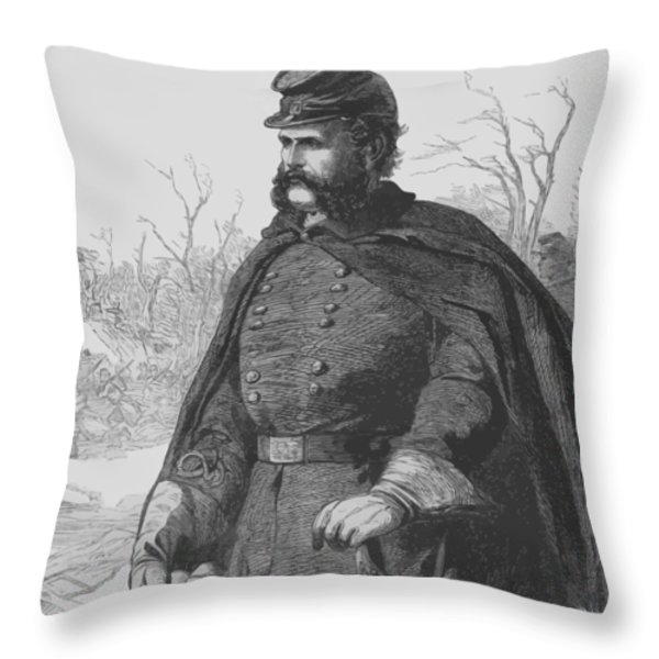 General Ambrose Burnside Throw Pillow by War Is Hell Store