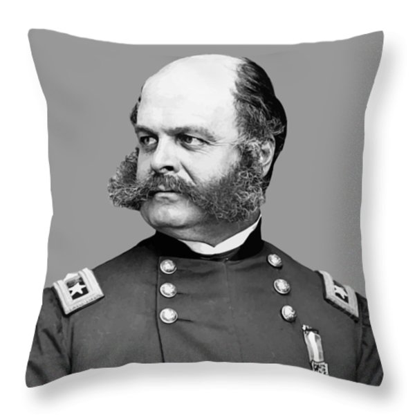 General Burnside Throw Pillow by War Is Hell Store