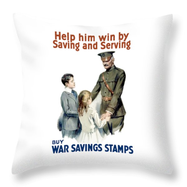 General Pershing Buy War Saving Stamps Throw Pillow by War Is Hell Store