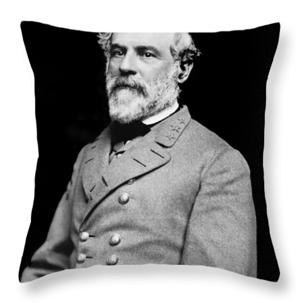 General Robert E Lee - CSA Throw Pillow by Paul W Faust -  Impressions of Light