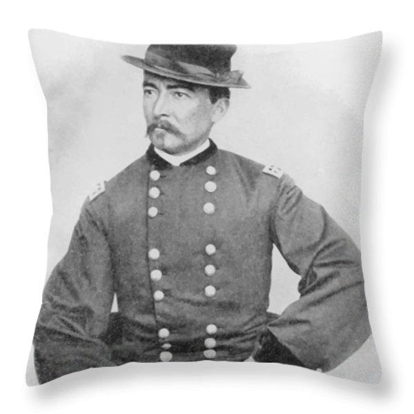 General Sheridan Civil War Portrait Throw Pillow by War Is Hell Store
