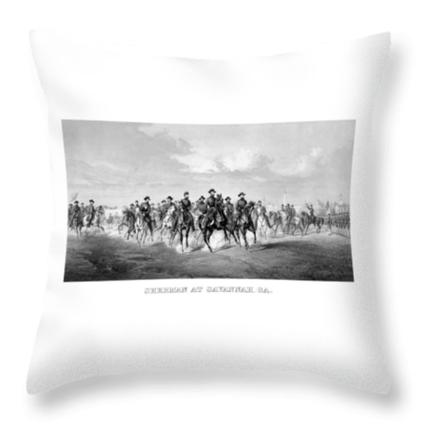 General Sherman At Savannah Throw Pillow by War Is Hell Store