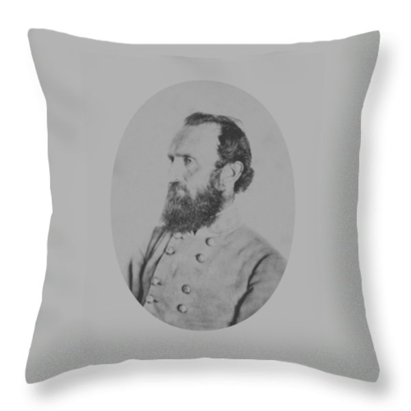 General Thomas Stonewall Jackson Throw Pillow by War Is Hell Store