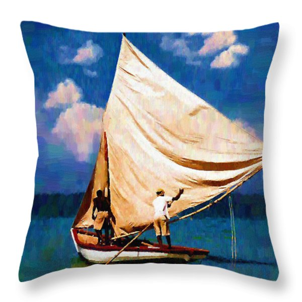 Gentle Winds Throw Pillow by Diane E Berry