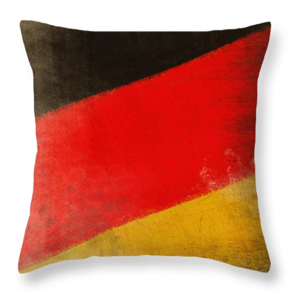 German flag Throw Pillow by Setsiri Silapasuwanchai
