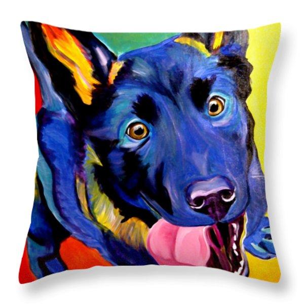 German Shepherd - Phoenix Throw Pillow by Alicia VanNoy Call