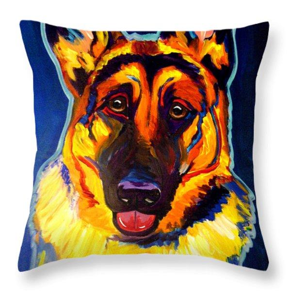 German Shepherd - Sengen Throw Pillow by Alicia VanNoy Call