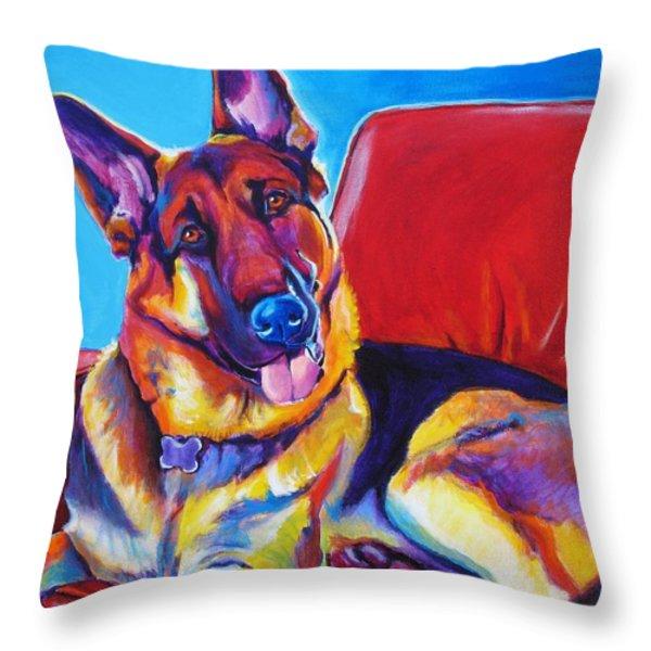 German Shepherd - Zeke Throw Pillow by Alicia VanNoy Call