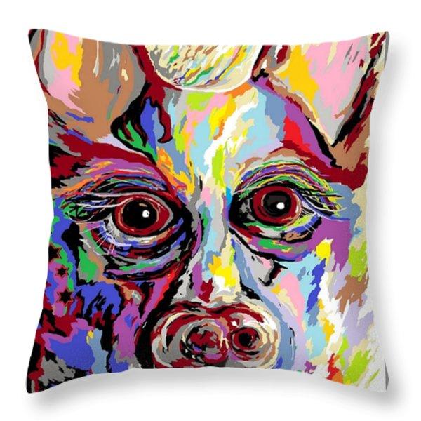 German Shepherd Throw Pillow by Eloise Schneider