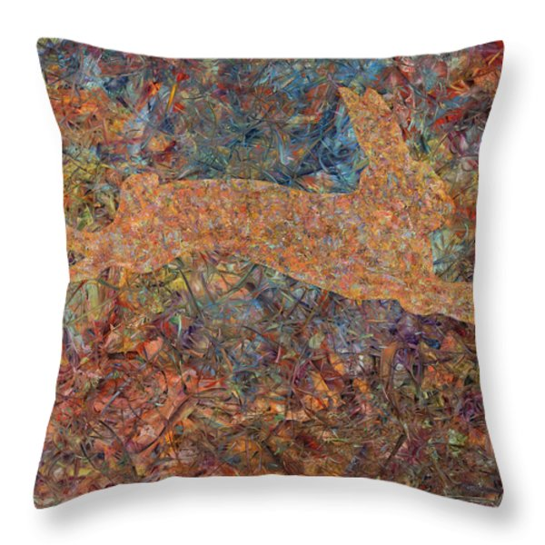 Ghost Of A Rabbit Throw Pillow by James W Johnson