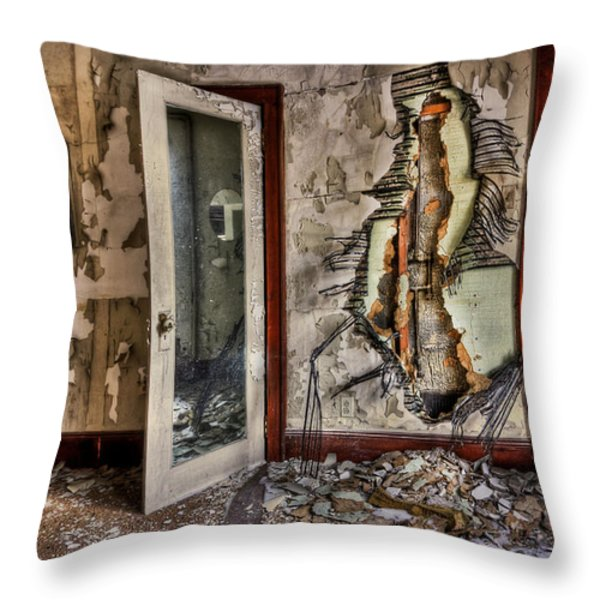Ghost Of Time Throw Pillow by Evelina Kremsdorf