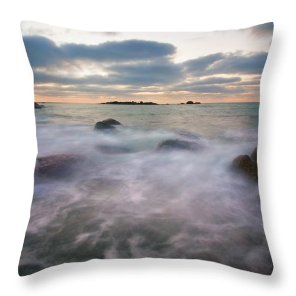 Ghost Tides Throw Pillow by Mike  Dawson