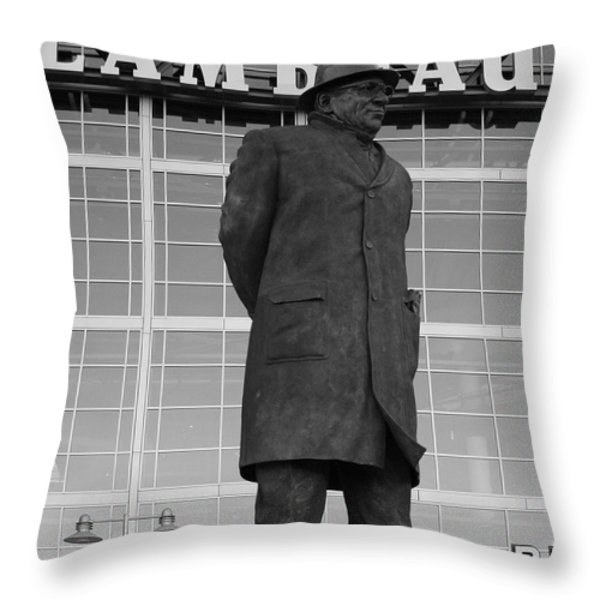 Ghosts of Lambeau Throw Pillow by Tommy Anderson