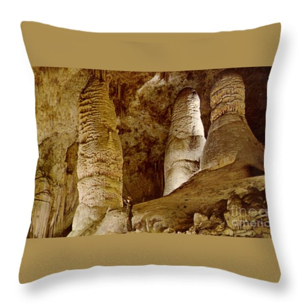 Giant Twin Domes At Carlsbad Caverns Throw Pillow by Ruth  Housley