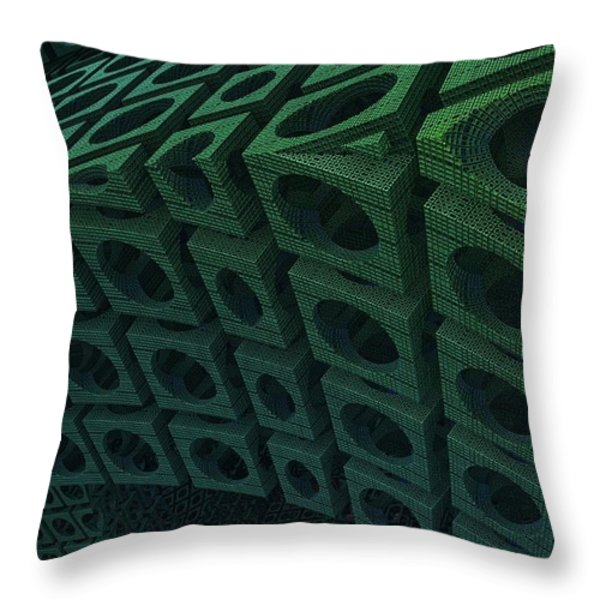 Girders Throw Pillow by Lyle Hatch