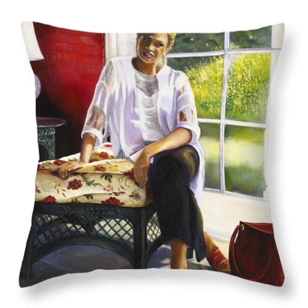 Girl Talk Throw Pillow by Marlene Book