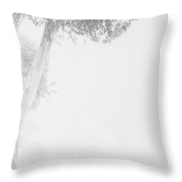Girl under tree Throw Pillow by Garry Gay