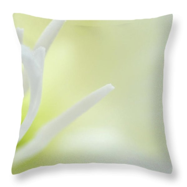 Gladioli Stamen Throw Pillow by Marion Galt