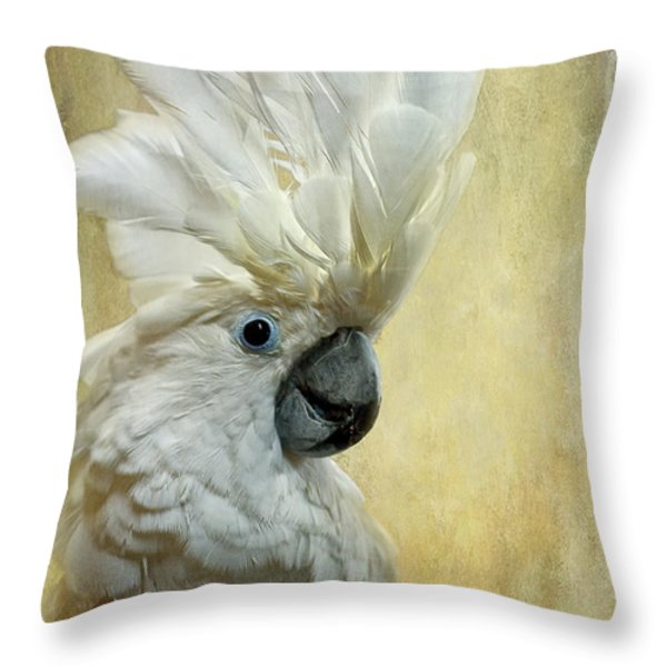 Glamour Girl Throw Pillow by Lois Bryan