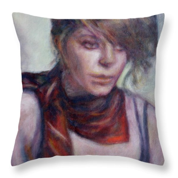 Glamour Girl Throw Pillow by Quin Sweetman