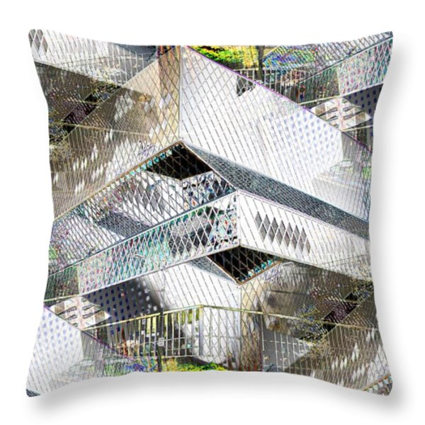 Glass House Throw Pillow by Tim Allen