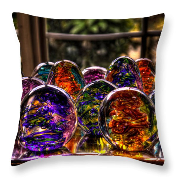 Glass Symphony Throw Pillow by David Patterson