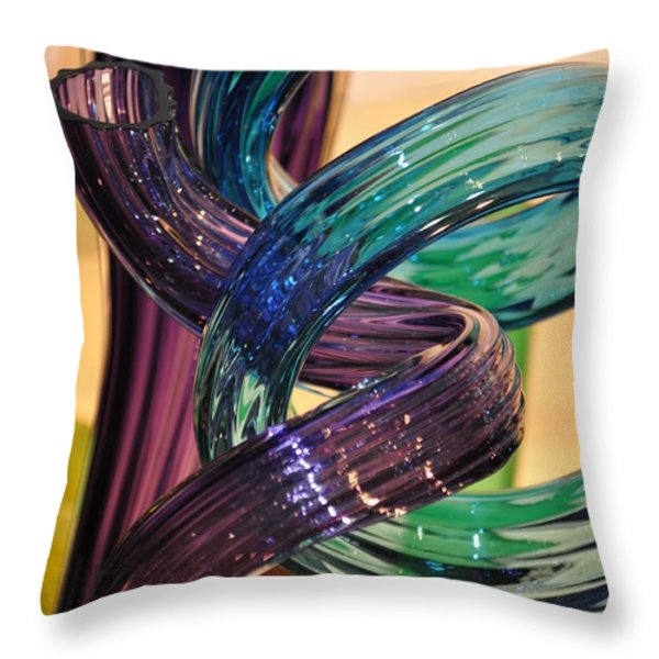 Glassworks 2 Throw Pillow by Marty Koch
