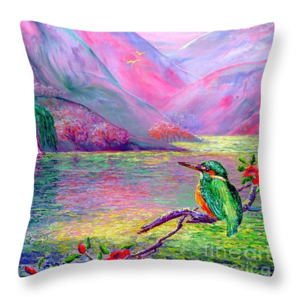 Shimmering Streams Throw Pillow by Jane Small