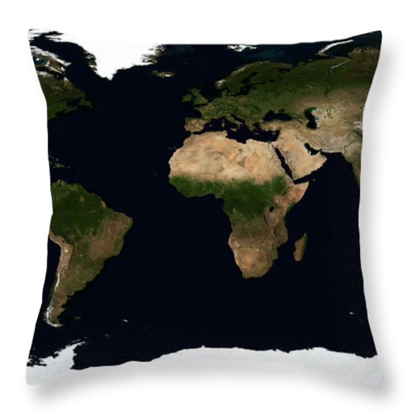 Global Image Of The World Throw Pillow by Stocktrek Images