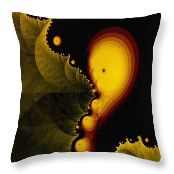 Glow Worm Throw Pillow by Gina Lee Manley