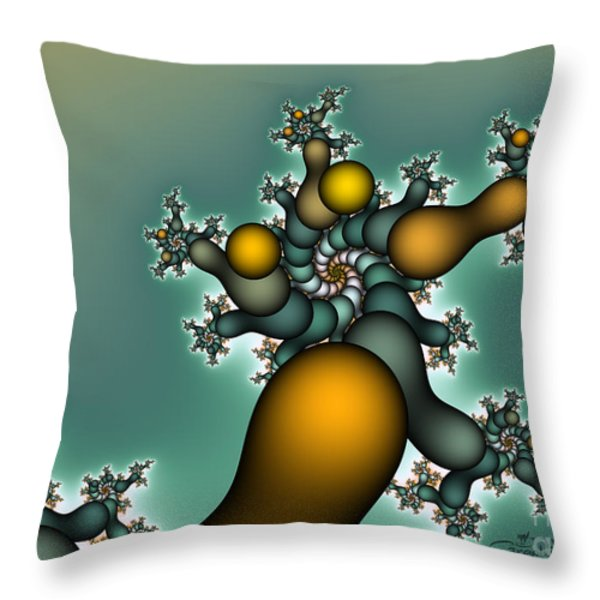 Gnarly Tree Throw Pillow by Jutta Maria Pusl