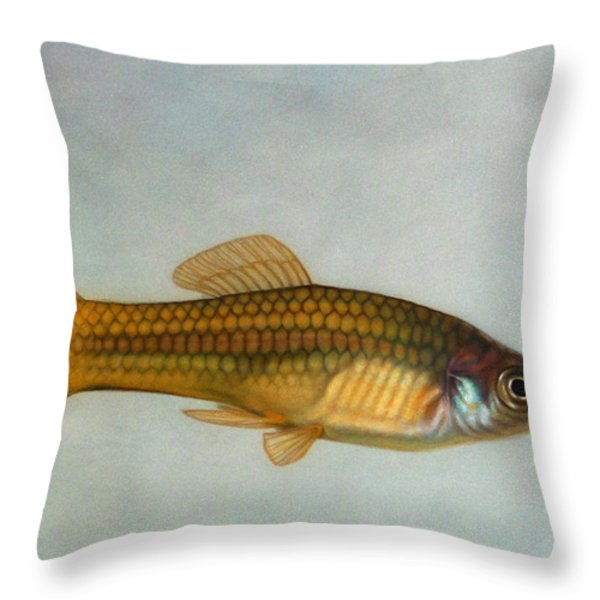 Go Fish Throw Pillow by James W Johnson