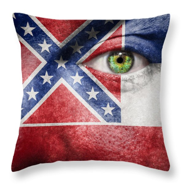Go Mississippi Throw Pillow by Semmick Photo