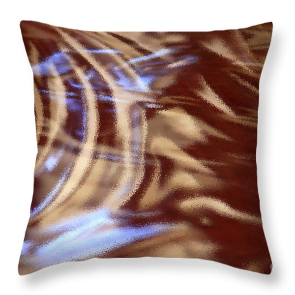 Go With The Flow - Abstract Art Throw Pillow by Carol Groenen