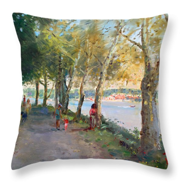 Going for a Stroll Throw Pillow by Ylli Haruni
