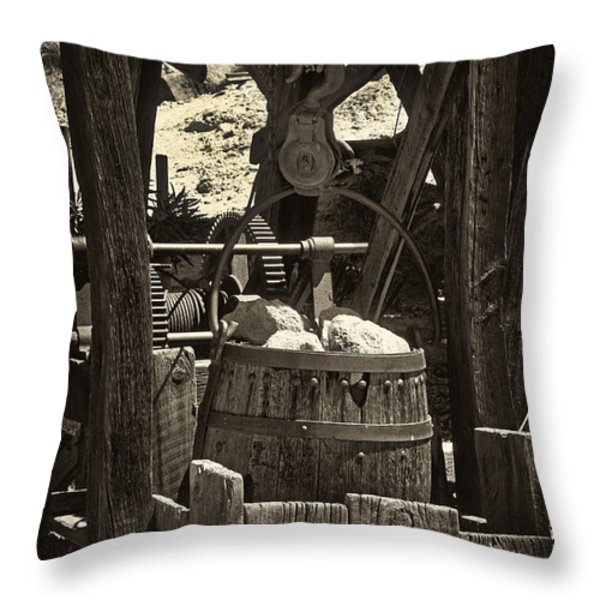 Gold Bucket Throw Pillow by Paul W Faust -  Impressions of Light