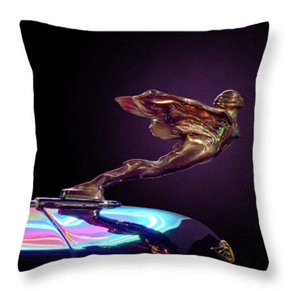 Golden Goddess Throw Pillow by Kurt Golgart
